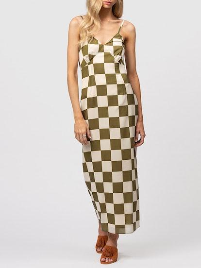 San Telmo Silk Midi Dress