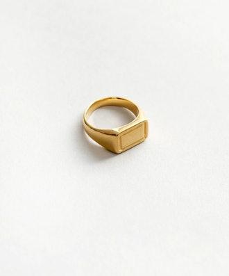 Parker Signet Ring in Gold