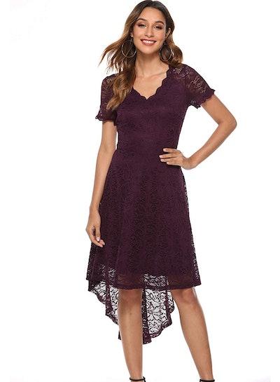 MODECRUSH Women's Hi-Low Party Dress