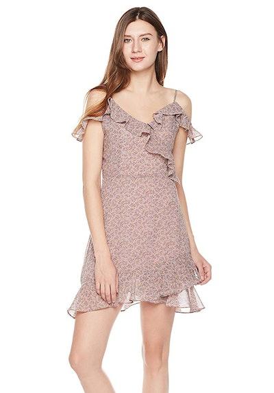 Plumberry V-Neck Ruffle Mini Dress