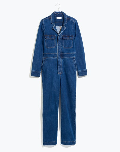 Denim Slim Coverall Jumpsuit in Stanwick Wash