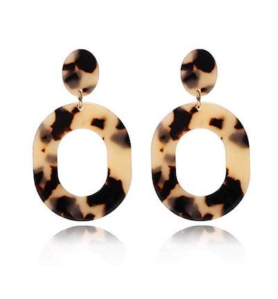 YAHPERN Acrylic Tortoiseshell Earrings