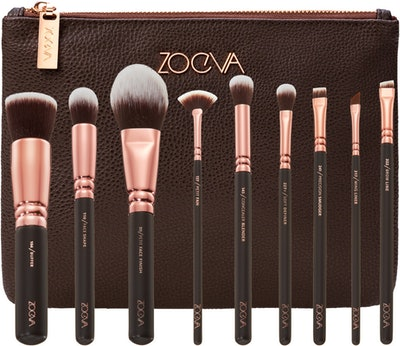 Rose Golden Brush Collection + Clutch Set