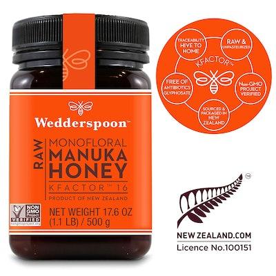 Wedderspoon Raw Premium Manuka Honey, 17.6 ounces
