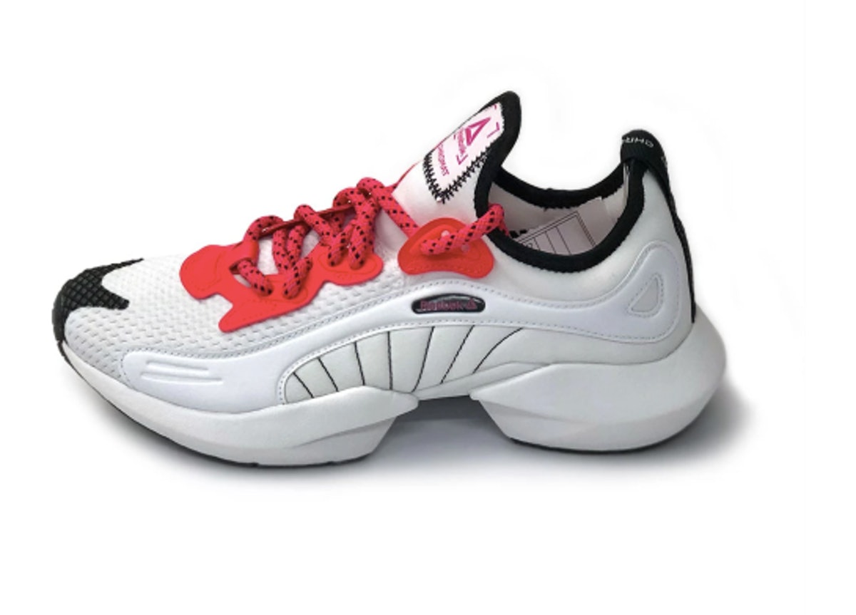 Reebok x Chromat Sole Fury Shoes in White/Neon Red/Black