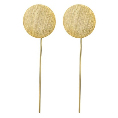 Lotus Fun Plated Sterling Silver Drop Earrings