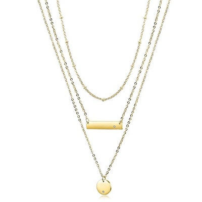 Wistic Layered Bar Necklace