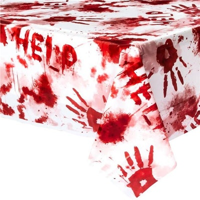 Bloody Hand Print Table Cover