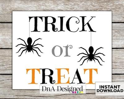 Trick or Treat Digital Instant Download