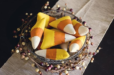 Stuffed Candy Corn Decor