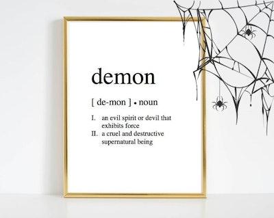 Demon Definition Printable