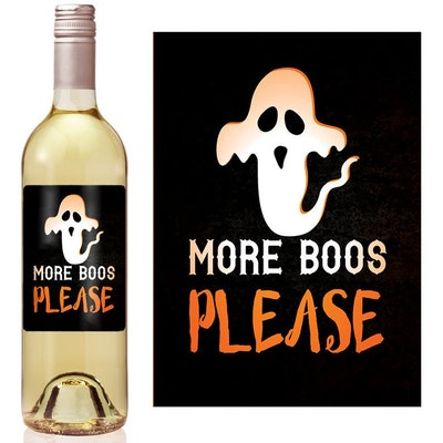 More Boos Please Wine Label