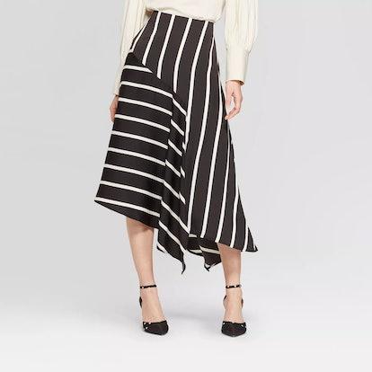 Who What Wear™ Women's Seamed Midi Slip Skirt