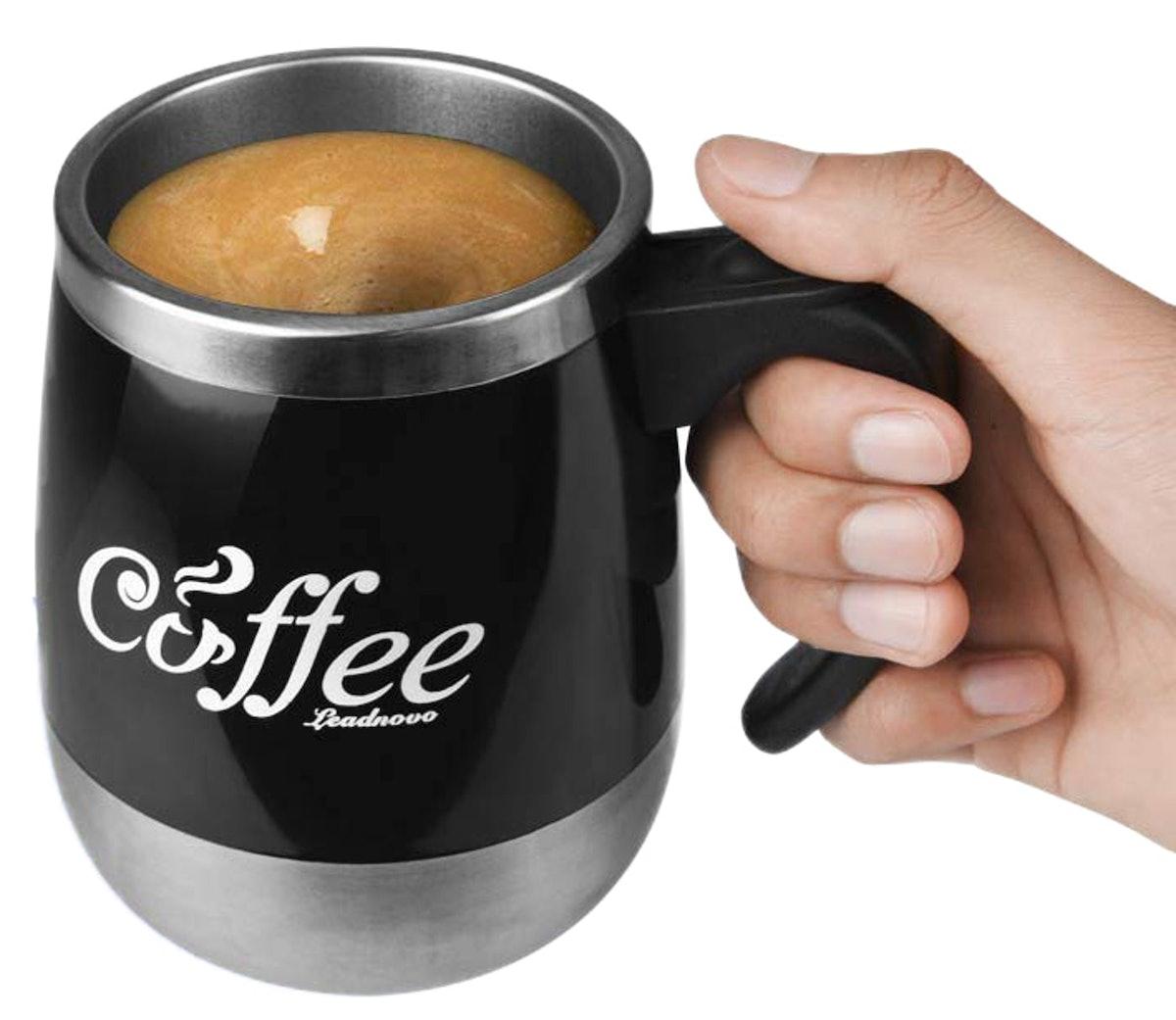 LEADNOVO Self-Stirring Coffee Mug