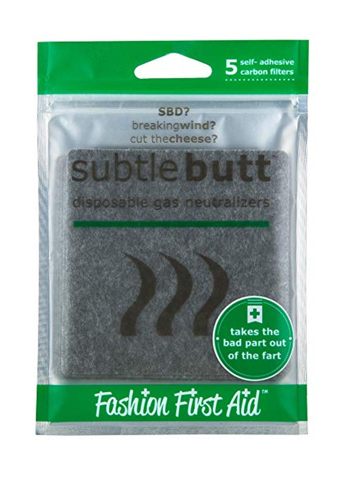 Subtle Butt Disposable Gas Pads (5-Pack)