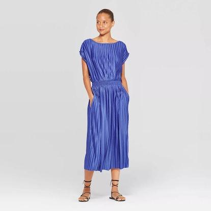 Prologue™ Women's Short Sleeve Crew Neck Pleated Cinched Waist Dress