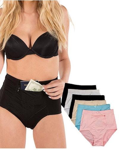 Barbra's Women's Travel Pocket Underwear (S - 4XL)