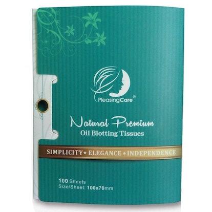 PleasingCare Natural Premium Oil Blotting Tissues