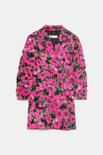 Floral Print Blazer Dress