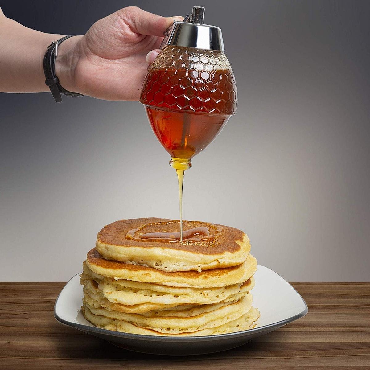 Hunnibi Glass Honey Dispenser