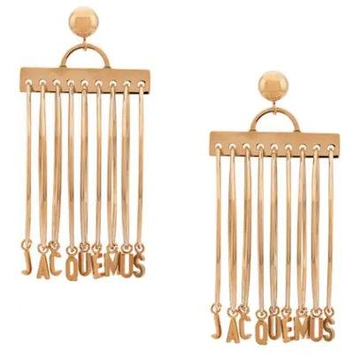 Gold Logo Hoop Earrings