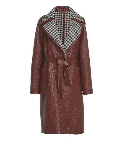 Coated Reversible Linen-Blend Trench Coat