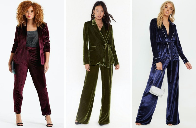 7 Matching Women S Velvet Suits For When You Want To Serve Lewks