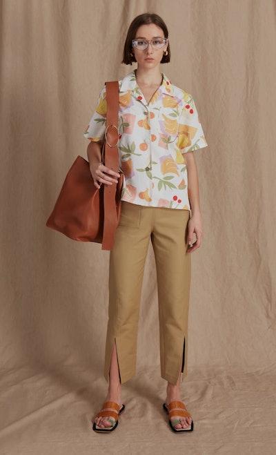 Mila Shirt Cotton Bamboo Fruit Print
