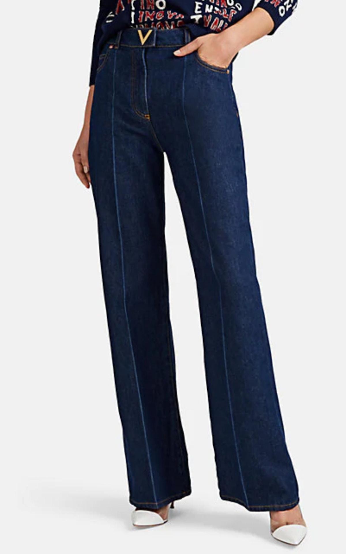 Denim Wide-Leg Pants