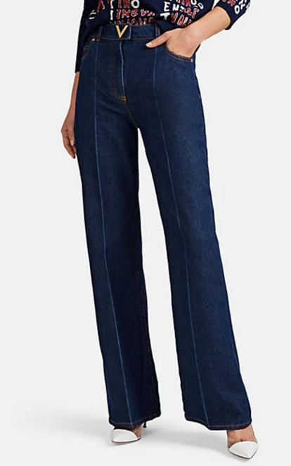 Denim Wide-Leg Pants