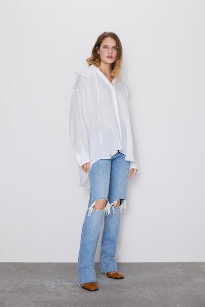 Premium Straight Jeans in Misty Blue