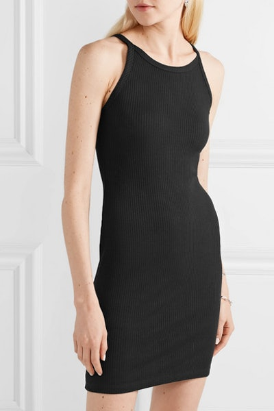 Alloy Ribbed Stretch-Knit Mini Dress