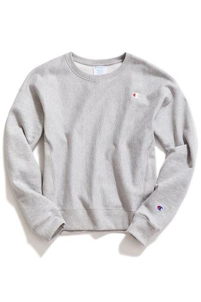 Reverse Weave Logo Patch Sweatshirt