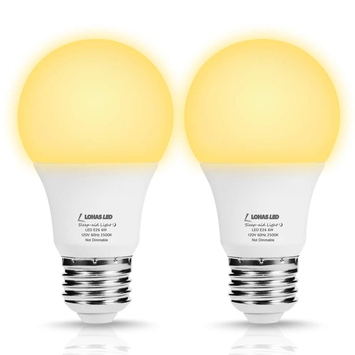 LOHAS Sleep Aid Light Bulbs (2-Pack)