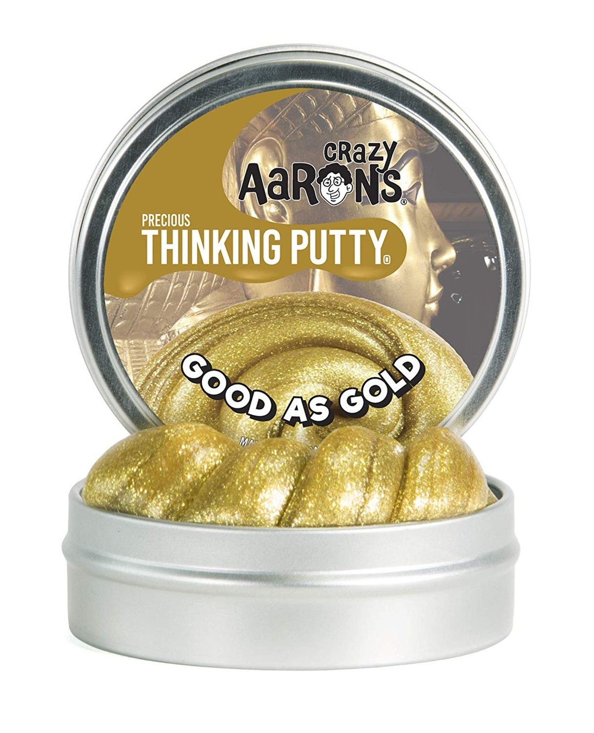 Crazy Aaron's Thinking Putty In Gold
