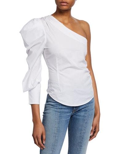 One Shoulder Cotton Top