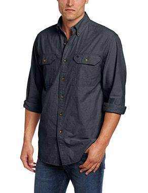 Carhartt Men's Fort Lightweight Chambray Button Front Relaxed Fit Shirt