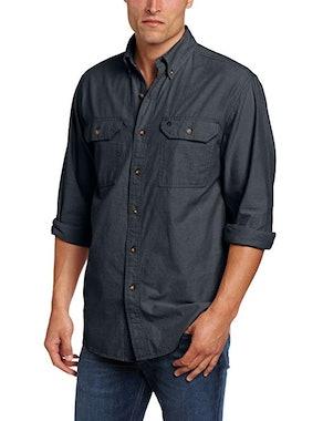 Carhartt Men's Fort Lightweight Chambray Button Front Relaxed Fit Shirt