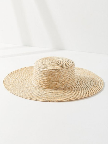 Large Straw Boater Hat