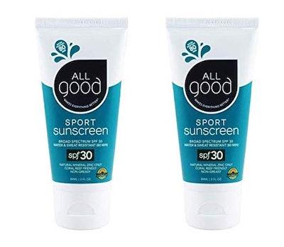 All Good Sport SPF 30 Sunscreen (3 Fl. Oz. Each, 2-Pack)