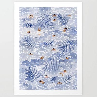 Palm Sea Art Print