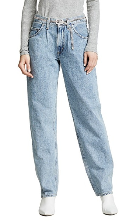 Baggy Oversized Jeans with Pleats