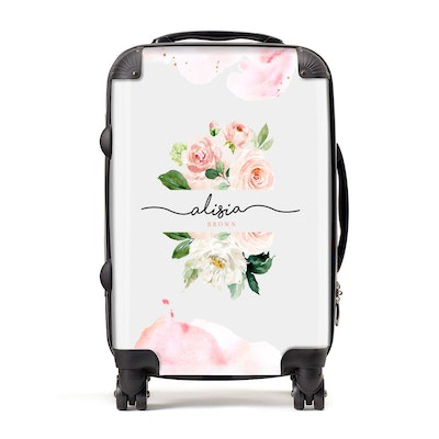 Pretty Roses Personalised Name Suitcase