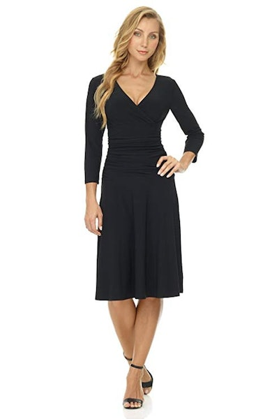 Rekucci Fit-and-Flare Crossover Dress