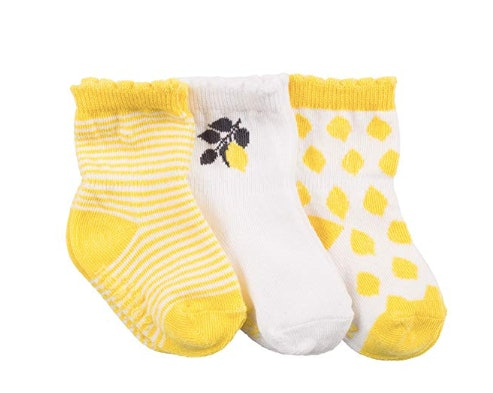 New Simple Joys by Carters Baby 0-6 Months 12 Pack Socks Yellow Green Grey