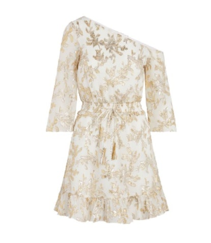 Flora Metallic Fil Coupe Mini Dress