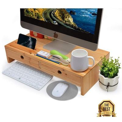 Zri Bamboo Monitor Stand