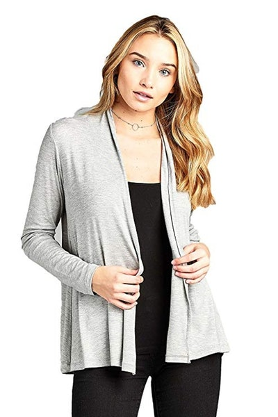 Soft Bamboo Open Front Cardigan