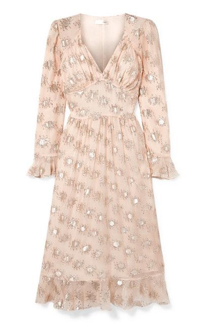 William Metallic Fil Coupe Dress
