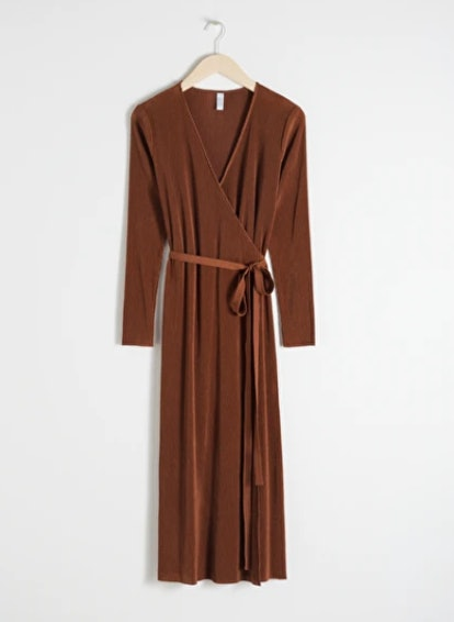 Plisse Pleated Dress